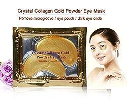 Generic Crystal Collagen Gold Powder Eye Mask Crystal Eye Mask Anti-puffiness Dark Circle 25pair/lot Free Shipping 2015 New