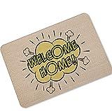 Epinki Gummi Teppich Karikatur Muster Muster Teppiche für Flur Schlafzimmer Braun 40x60CM