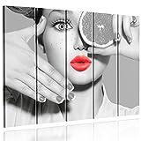 Feeby Frames, Cuadro en lienzo - 5 partes - Cuadro impresión, Cuadro decoración, Canvas Tipo C, 100x200 cm,