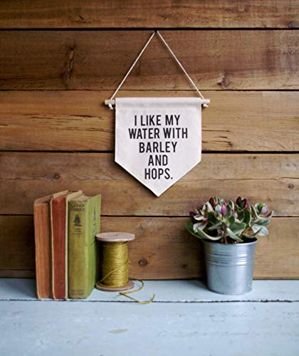 C-US-lmf379581 Leinwandbild I Like My Water with Barley & Hops/Wandbild / Zitat Kunst/Bier