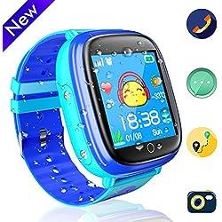 Reloj GPS infantil, Conectividad GSM/GRPS, mensajeria, chat de voz, camara, linterna, podometro (Azul y rosa)