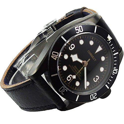 41mm Corgeut meccanico di avvolgimento automatico orologio da uomo PVD...