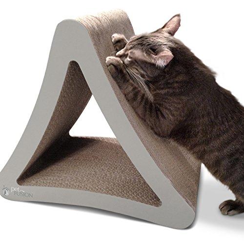 PetFusion 3-Sided Vertical Cat rascarse Post (46x27x41 cm). [Múltiples ángulos de arañazos para que coincida con sus preferencias de gato]