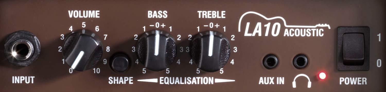 Laney LA Series LA10 – Acoustic Guitar Combo Amp – 10W – 5 inch Woofer
