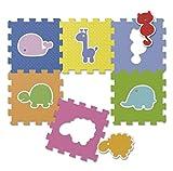Chicco Puzzle Matten Tiere, 6-teilig