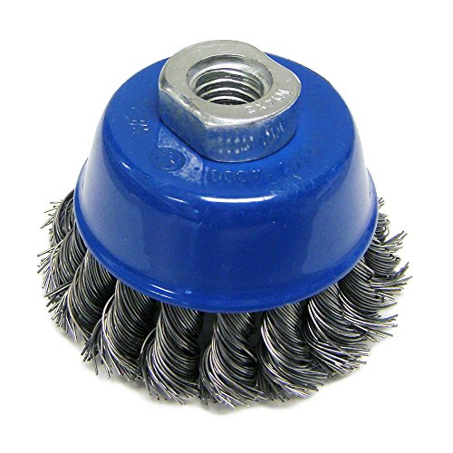 "Mercer 189014B Knot Cup Brush 2-3/4"" x M14 x 2.0 For Angle Grinders"