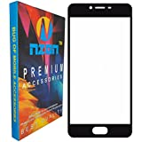Gionee A1 Full Coverage Tempered Glass, [Color Glass] [Edge To Edge Crash Protection] Curved [Scratch Proof] [Bubble Free] Tempered Glass Screen Protector For Gionee A1 (Black Front)