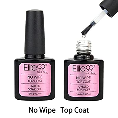 Elite99 UV LED Wiping Top Coat Soak Off Nail Gel Polish 10ml