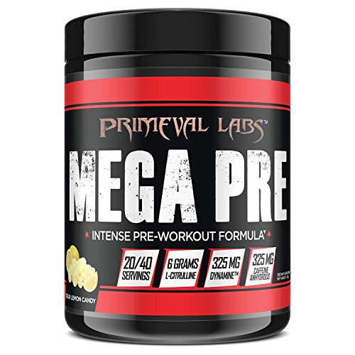 Mega Pre Black Pre Workout Booster (Sour Lemon Candy) 350g