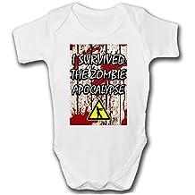 I sobrevivido el apocalipsis zombie Body y gorro para bebé | Walking Dead inspirado