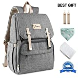Baby Nappy Bag Backpack, Multifunctional Changing Bag for Traveling Mom Daddy, Large Capacity