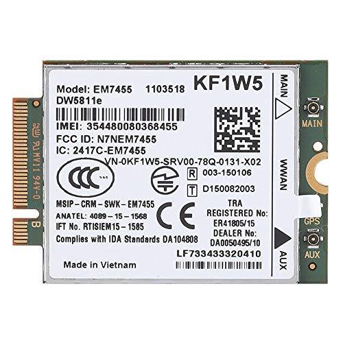 Tosuny 4G Modul Netzwerkkarte für Dell Ersatz Qualcomm 4G LTE WWAN Wireless EM7455 für Dell DW5811e