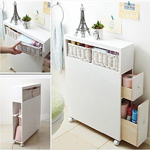 FDS Bad Lagerschränke Küchenrank Aufbewahrungschrank Badmöbel Rollschrank