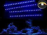 Creative Lights Aquarium Mondlicht, LED LICHTLEISTE 4 x 30 cm + DIMMER Flexi-Slim BLAU Komplettset