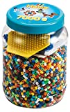 Hama 2021 Perlen und Pegboards in Dose, Blau, Blau / Gelb