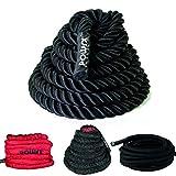 Battle Rope / Corde de musculation - 15 m x 38 mm ou 15 m x 50 mm (15 m x 38 mm / Noir)