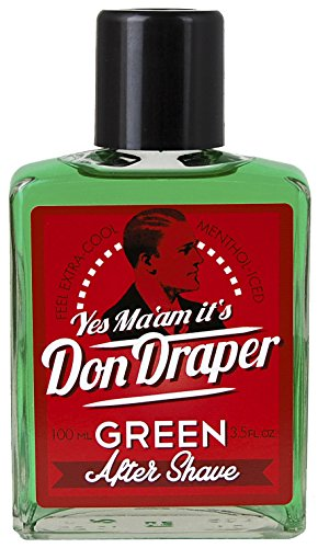 Don Draper Green Aftershave, 100ml