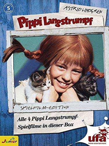 Pippi Langstrumpf - Spielfilm-Box (4 DVDs, Remastered)