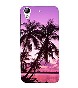 Evening at Ocean with Clouds 3D Hard Polycarbonate Designer Back Case Cover for HTC Desire 626 :: HTC Desire 626 Dual SIM :: HTC Desire 626S :: HTC Desire 626 USA :: HTC Desire 626G+ :: HTC Desire 626G Plus