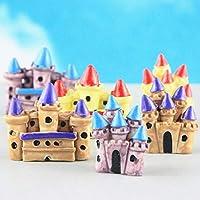 Ochoos Castillo Artificial, caseta de caseta en Miniatura, decoración para el hogar, jardín