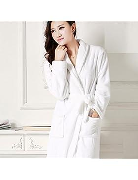 DMMSS Sig. ra accappatoio più spessa camicia da notte flanella manica lunga Coral velluto pigiama , 3 , xl