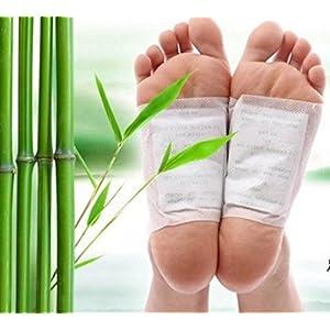 careshine 100Natur Entgiften Foot Pads halten, selbstklebend Patch verhindern Giftstoffe Einlegesohle All Natural Health Care Produkt. Lindert Müdigkeit, verbessern Schlafsack