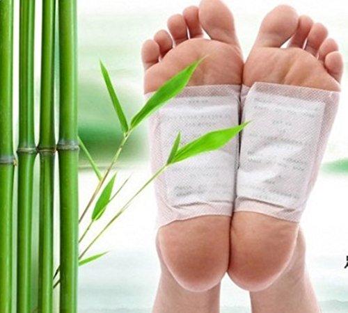 Fuß-pad, Die Giftstoffe Entfernen (careshine 100Natur Entgiften Foot Pads halten, selbstklebend Patch verhindern Giftstoffe Einlegesohle All Natural Health Care Produkt. Lindert Müdigkeit, verbessern Schlafsack)