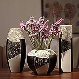 wysm Tres piezas de cerámica florero de mesa de bambú de la suerte insertar creativas moderna sala de estar casera de las decoraciones de los ornamentos