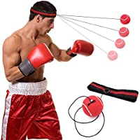 Boxing Reflex Ball, Syolee Fight Ball Punch Trainer Exercise Reflex on String with Headband Training Speed Reactions Improve Punch Focus Sport Exercise for Adult/Kids Gym, Boxing, MMA and Other Combat