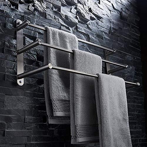 304 Edelstahl Gebürstet Multifunktionale Badezimmer Handtuchhalter 3-tier Handtuchhalter Badetuchhalter Bad-accessoires ( größe : 100cm )