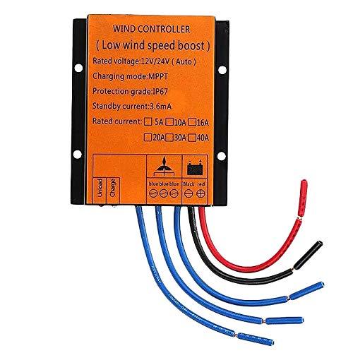 Liseng Controlador de Carga Del Generador de Turbinas EóLicas 1000W 12 / 24V Controlador AutomáTico MPPT a Prueba de Agua