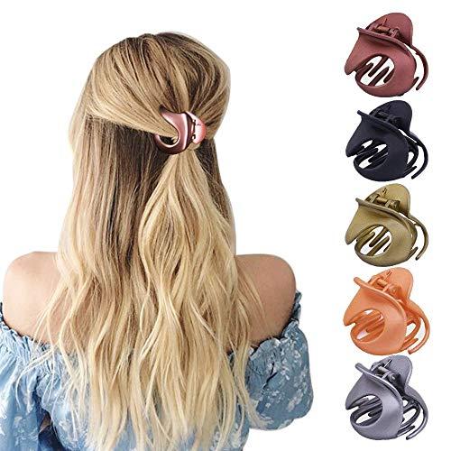 HO2NLE 5 Stücke Haargreifer Damen Haarspangen Haarklammer Acryl Klaue Clips Vintage Haarkneifer Unregelmäßige Rutschfeste Haarnadel Haarkrebs Haarschmuck für...