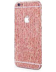 Apple iPhone 6s Plus, iPhone 6 Plus aluminium brossé film adhésif protecteur brushed rond de style aluminium brossé optique Sticker Glamour en rosé de PhoneStar