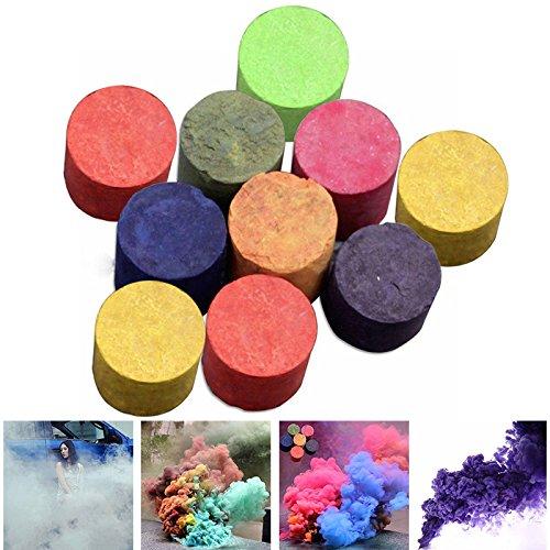 Majome 10 Stück Bunte Rauch Kuchen Pillen Studio Fotografie Requisiten Film Fernsehen Tabak Zigaretten Maker Farbe zufällig