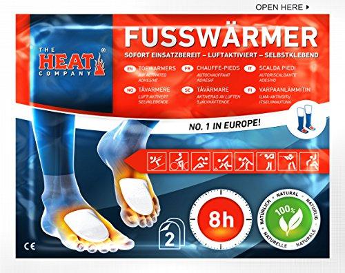 The HEAT company Fußwärmer Wärmekissen SELBSTKLEBEND auf Socken 8 Std. Wärmedauer 5 Paar (Unten Socke)