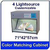 CAC-600-4 Farblich passender Schrank-Box mit 4 Lichtquellen: D65 TL84 UV F Größe: 71 x 42 x 57 cm