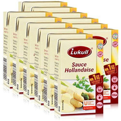 Lukull Sauce Hollandaise 250ml - Für Spargel, Gemüse, Fleisch & Fisch (12er Pack)