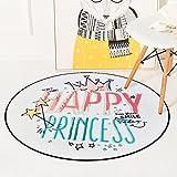 ZXHJK Karikatur Gekritzel Teppich Glückliche Prinzessin Home Decoration Blanket Slip Wearable Verwendbar Für Wohnzimmer 150X150Cm