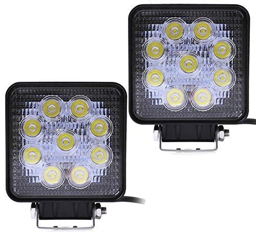 Greenmigo 2 x 27W offroad réflecteur lED projecteur phare de travail intégrée sUV, aTV/uTV hella offroad de phares de travail 12-24 v8 offroad hella 27W lED projecteur phare de travail