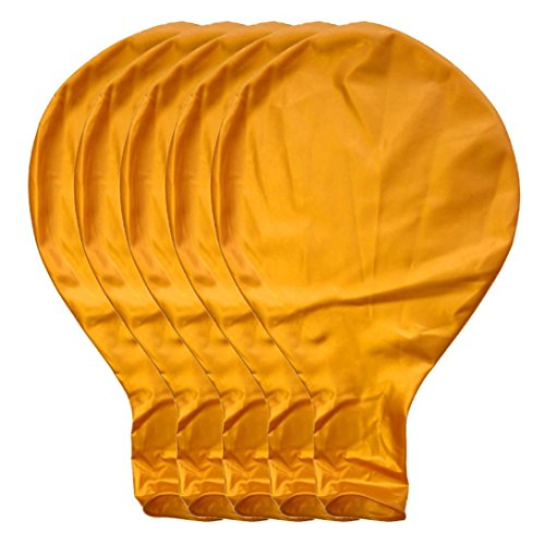 BZLine Großer riesiger Ovaler Großer Latex-Ballon, 5 Stück 36 Zoll 90cm Perle Latex Luftballons für Party Luftballons Spielzeug für Kinder Hochzeit Party Festival Dekoration (Gold)