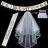 BigLion Braut zu Schleier Schärpe Banner Strumpfband Rosette Abzeichen für Henne Nacht Party Hochzeit Dekorationen