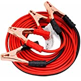 Amikan Car Heavy Duty Auto Jumper Cable Battery Booster Wire Clamp with Alligator Wire, 2.21m/600 Amp (A-03)