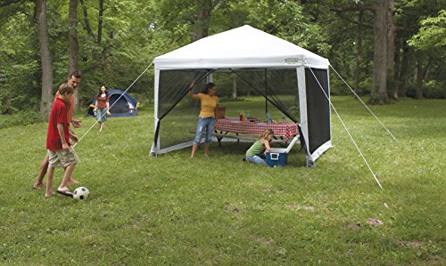 51b20ZK8XPL - Wenzel Water Repellent Smartshade Unisex Outdoor Screen House Tent available in White - 10 feet