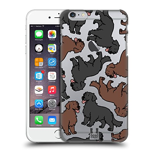 Head Case Designs Flat Coated Retriever Hunderassen Muster 11 Ruckseite Hülle für Apple iPhone 6 Plus / iPhone 6s Plus (Flat Der Head T-shirt,)
