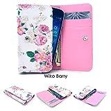 ZeWoo PU Leder Brieftasche - GT07 / (5#) Rose (Groß) - für Wiko Barry Dual SIM Tasche Hülle