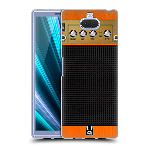 Head Case Designs Orange Chor Gitarrenverstärker Soft Gel Hülle für Sony Xperia XA3 Ultra / 10 Plus