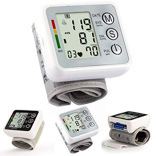 Digital-LCD-Handgelenk-Blutdruckmessgerät Hohe Genauigkeit Messgeräte Gesundheitswesen Batteriebetrieb (Color : Silver+Grey)