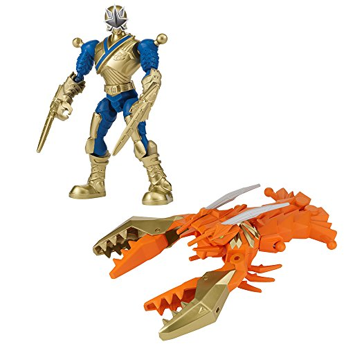 Power Rangers – Mixx 'N' Morph – Samurai Gold Ranger & Clawzord [UK Import]