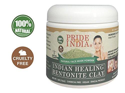 ches Heil Bentonitton natürliche Gesichtsmaske Pulver, 1 Pfund (454gm) jar (Heilung-protein-pulver)