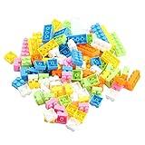 SODIAL 96 Stueck Bunte Plastik Kinder Kind Puzzle Paedagogische Bausteine Bricks Gebaeude Spielzeug